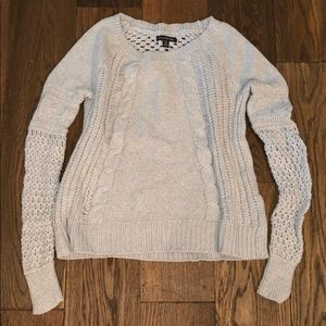 American Eagle Light Blue Knit Sweater